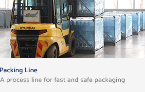 Packing Line A process line for fast and safe packaging